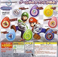 Bandai SUPER MARIO kart Wii Sound Drop Gashapon Set of 8 Figure
