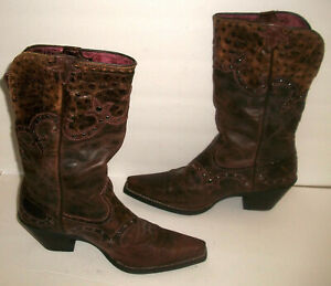 Ariat Brown-Leather Studded Square-Toe Cowgirl Boots10008779 -- 8M -- $245
