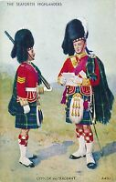 POSTCARD   MILITARY   SEAFORTH  HIGHLANDERS   Officer  &  Sergeant