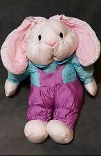 "15"" International Silver Company Plush Bunny Rabbit Nylon Puffalump Style Soft"