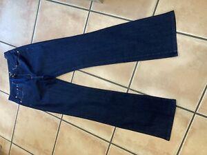 Per Una Ladies Slight Flared Size12 Dark Blue Long