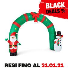 OneConcept Merry Welcome Decorazione Natalizia Gonfiabile Babbo Natale e Pupazzo di Neve - Multicolore (10029233)
