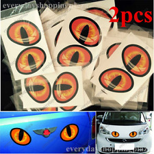 2pcs 3D CAT EYES Car Rear View Mirror Window Funny Stickers for Mini COOPE/BMW