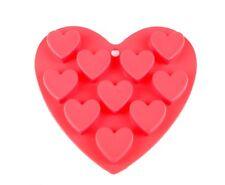 Silikon Herz Backform Pralinenform Backformen Schokolade Pralinen Eiswürfel Rot