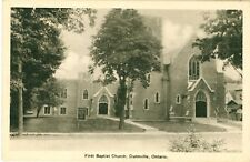 DUNNVILLE First Baptist Church Ontario CANADA Vintage PC 1947