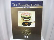 The Rolling Stones Let It Bleed Alfred's Classic Album Editions Music Song Book