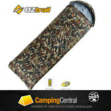 OZTRAIL TACTIX CAMO HOODED -5 Cel. Sleeping Bag 230x80cm ARMY LAWSON CAMOFLAUGE