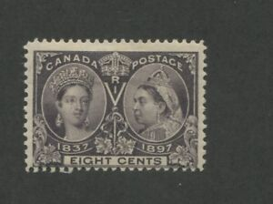 1897 Canada 8 Cent Postage Stamp #56 Mint Previously Hinged Fine Original Gum