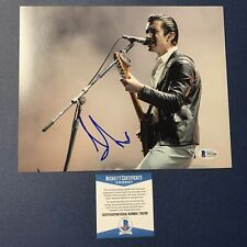 ALEX TURNER ARCTIC MONKEYS BAND LEAD SINGER SIGNED 8X10 PHOTO AUTOGRAPH BAS COA