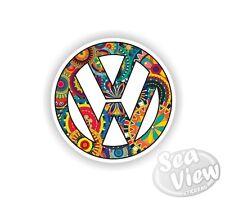 Volkswagen Hippy Peace Funky VW Car Van Sticker Stickers Decal Fun Sticker