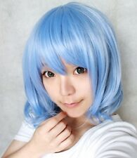 New light blue short curly Remilia Scarlet cosplay wig
