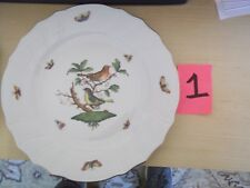 "HEREND HUNGARY 11"" DINNER PLATE BIRD BUG BUTTERFLY MOTIF HANDPAINTED 1524 RO 2"