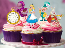 12 STAND UP ALICE IN WONDERLAND EDIBLE BIRTHDAY CUPCAKES CUP CAKE IMAGES TOPPERS