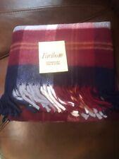 New Faribo Pak-A-Robe Throw Blanket 45x50 Plaid Mid Century