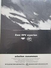 4/1972 PUB TELEDYNE RYAN AERONAUTICAL MBB RPV REMOTELY PILOTED VEHICLE DRONE AD