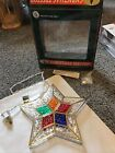 Vintage Star Treetop, Wall, And Window Decoration. Stained glass Look. Never Use