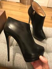 $1,050 New Giuseppe Zanotti eva Womens Leather High Heel Ankle Boot Black 8 41