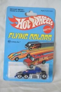 VINTAGE 1975 HOT WHEELS FLYING COLORS -#45 LICKETY SIX -NEW ON CARD