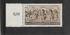 East Germany 1954 7tH International Cycle Race 12pf Mnh With Margin Ref 741