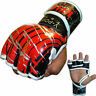 VELO Grappling Gloves Leather Gel Tech MMA UFC Fight Boxing Punch Bag rb