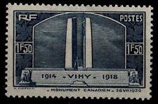 Mémorial de VIMY, en bleu, Neuf ** = Cote 37 € / Lot Timbre France 317