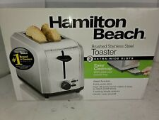 Hamilton Beach Brushed Stainless Steel Silver 2 Slice Toaster 22911 - Free Ship