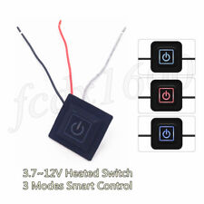 12V LED Temp Switch 3Mode for Motorcycle Heated Gloves Muff Knee Pad Seat Heater