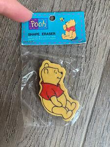 E14 Vintage 80s 90s Erasers - Winnie The Pooh Eraser In Original Packet