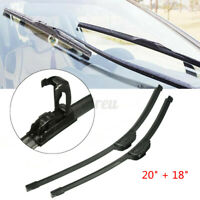 20''+18'' Universal Car Bracketless Window Windshield Wiper Blades J-Hook   //