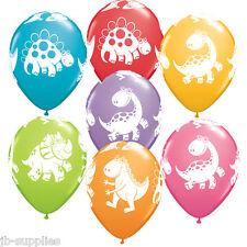 "6*11"" QUALATEX CUTE & CUDDLY DINOSAUR HELIUM/AIR LATEX BALLOONS BIRTHDAY PARTY"