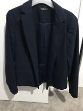 Jacqui E Navy Blue Suits You Blazer Size 12