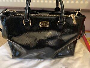 Genuine Michael Kors Black Patent Handbag