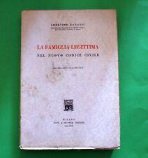 La famiglia legittima nel nuovo codice civile - L. Barassi - Ed. Giuffrè 1941