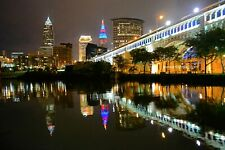 Cleveland Ohio Skyline Wall Art, Large Canvas, Metal, Photo Art Print, Landscape