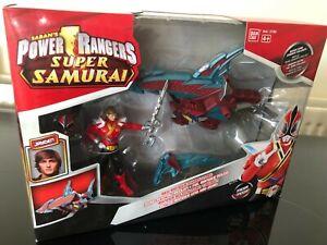 Power Ranger Super Samurai Red Shark Zord and Red Ranger Brand new sealed RARE