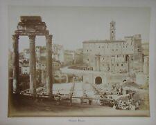 Roman Forum. Rome, Italy. 1880s Albumen Photo