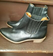 Madewell Raleigh black elastic Booties size 10