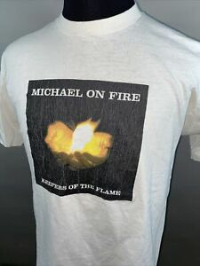 Vintage Michael On Fire Keepers Of The Flame Single Stitch T-Shirt XL USA