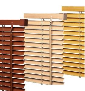 Wooden Grain Effect Venetian Window Blinds Curtains Trim-able blind Shutter