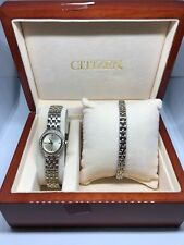 Citizen Womens Ej6044-69p Two Tone Gold Dial Quartz Watch (read) #BB76
