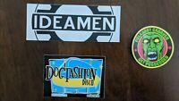 Dog Fashion Disco, Polkadot Cadaver, & Ideamen 3 Sticker Set - FREE SHIPPING!