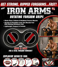 Iron Gym Iron Arms Grip Rotate Forearm Wrist Resistance Exercise Sport Training
