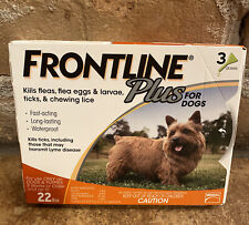 Frontline Plus Flea & Tick Treatment for Dogs & puppies upto 22lbs: 3 dose