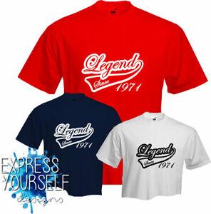 LEGEND SINCE 1971- T Shirt, 50th BIRTHDAY (2021), Fun, Present, Gift, NEW
