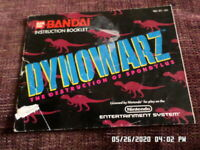 Dynowarz (NES Nintendo) Instruction Manual Only... NO GAME