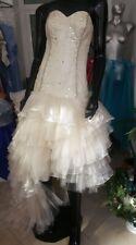 brautkleid ballkleid abendkleid prom crystal strass steinen beige luxus 30 - 42