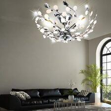 Decken Lampe floral Design Blätter Äste Dekor Kristalle Wohn Zimmer Beleuchtung