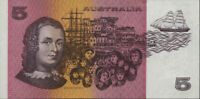 Australian 1983 Mint CFU $5 PXB 287222 Johnston Stone Paper Banknote Issue r208