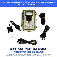 TELECAMERA VIDEOSORVEGLIANZA INFRAROSSI 560 DVR IR SD SPY SPIA OTTIMA PER CACCIA