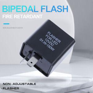 2 Pin 12V Motorcycle Blinker Adjust LED Flasher Relay Turn Signal Indicator USA